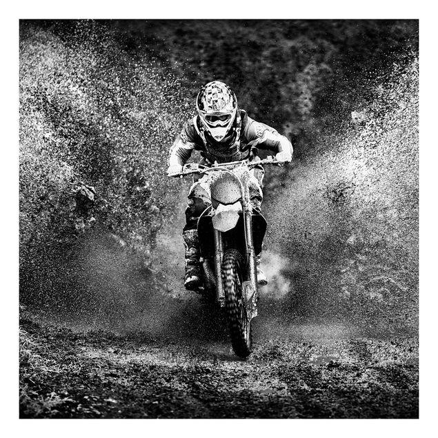 Beistelltisch - Motocross im Schlamm