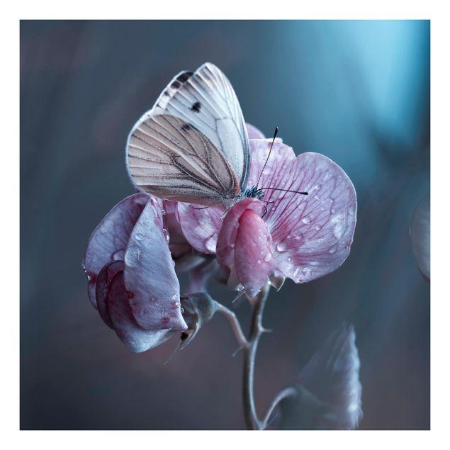 Beistelltisch - Schmetterling im Regen