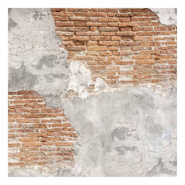 Beistelltisch - Shabby Backstein Wand