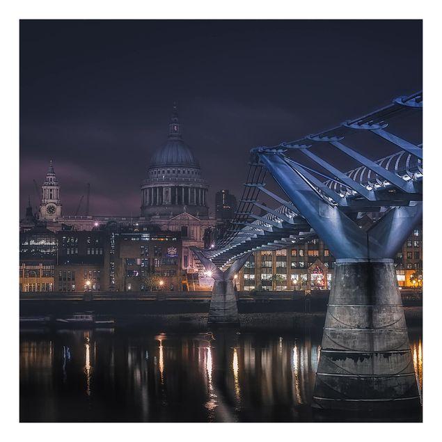 Beistelltisch - St Paul's bei Nacht