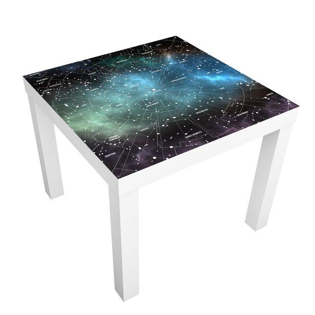 Beistelltisch - Sternbilder Karte Galaxienebel