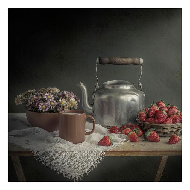 Beistelltisch - Stillleben mit Erdbeeren