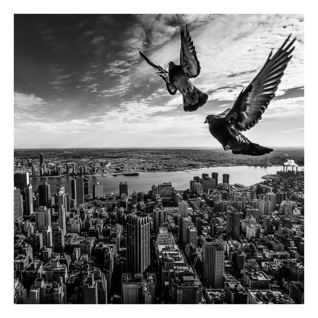 Beistelltisch - Tauben auf dem Empire State Building