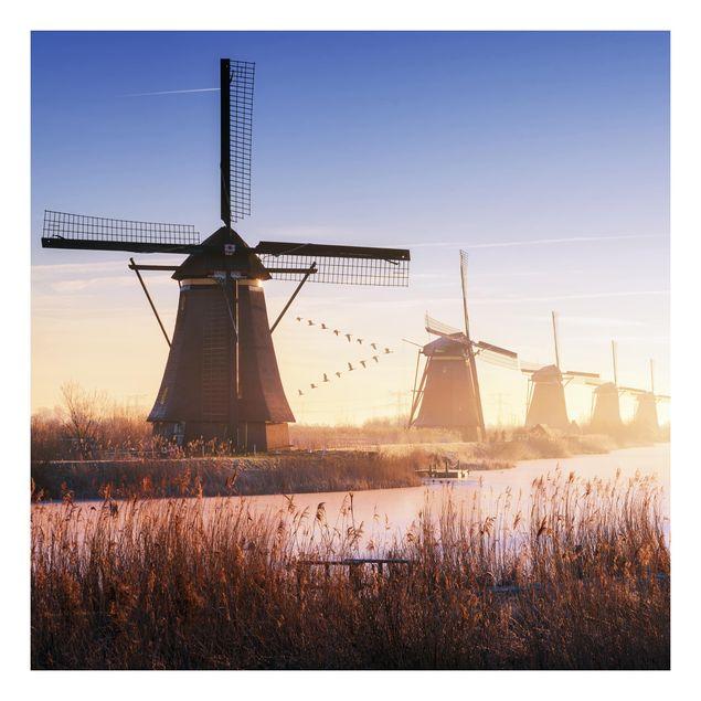 Beistelltisch - Windmühlen von Kinderdijk