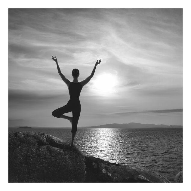 Beistelltisch - Yoga schwarz weiss