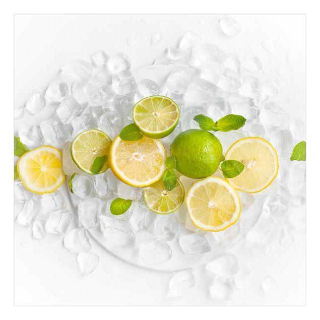 Beistelltisch - Zitrusfrüchte auf Eiswürfel