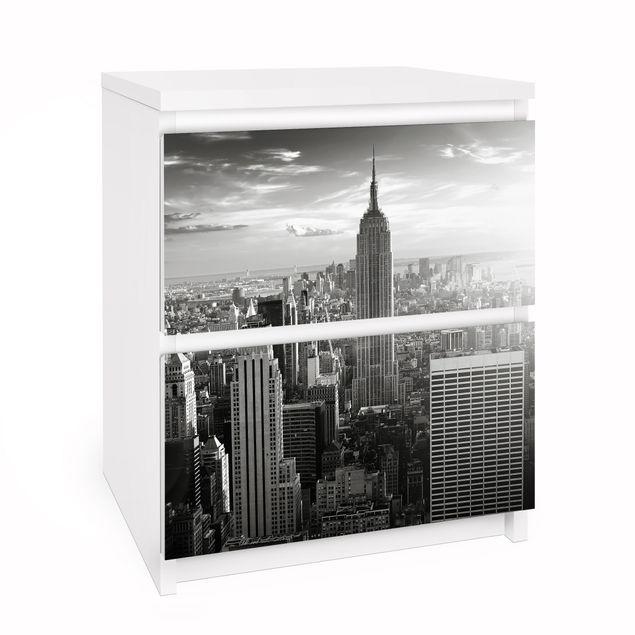 Möbelfolie für IKEA Malm Kommode - Selbstklebefolie No.34 Manhattan Skyline Panorama