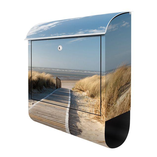 Briefkasten mit Zeitungsfach - Ostsee Strand - Hausbriefkasten