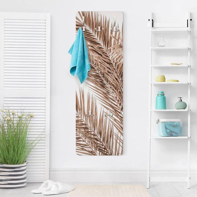 Garderobe - Bronzefarbene Palmenwedel