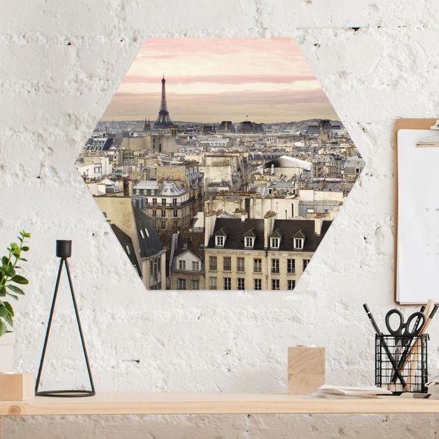 Hexagon Bild Alu-Dibond - Paris hautnah