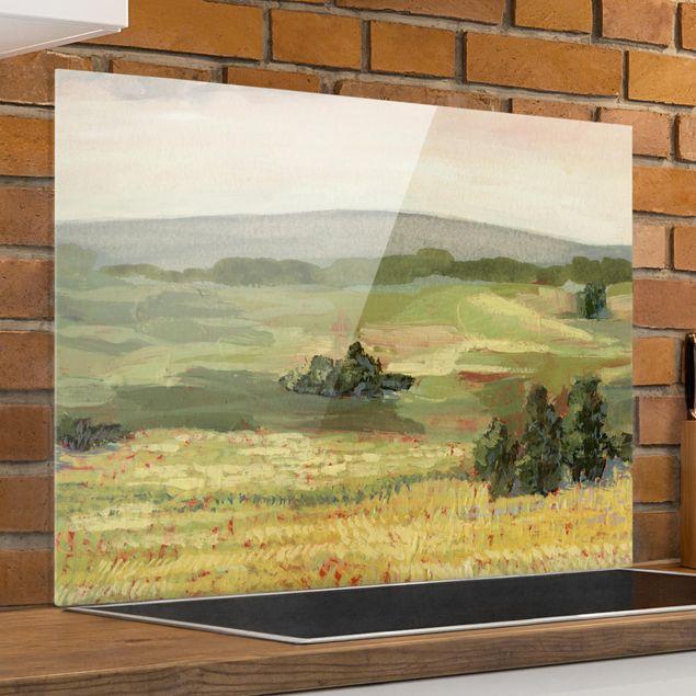 Glas Spritzschutz - Wiese am Morgen I - Querformat - 4:3