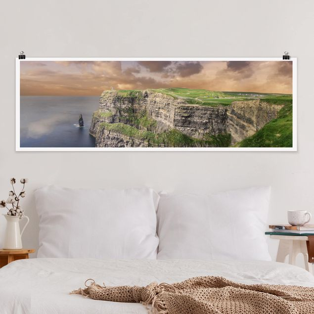 Poster - Cliffs Of Moher - Panorama Querformat