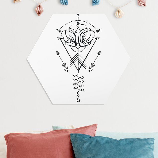 Hexagon Bild Forex - Lotus Unalome mit Pfeilen
