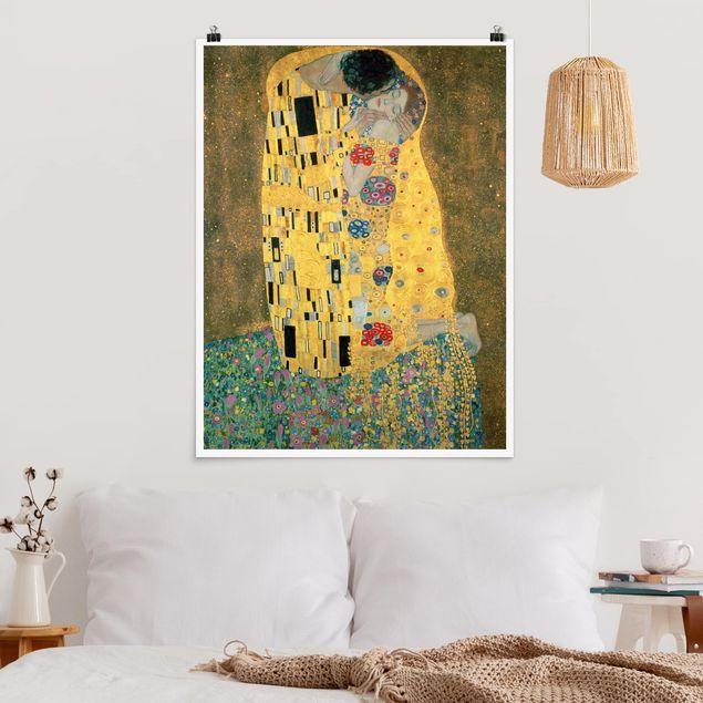 Poster - Gustav Klimt - Der Kuß - Hochformat 3:4