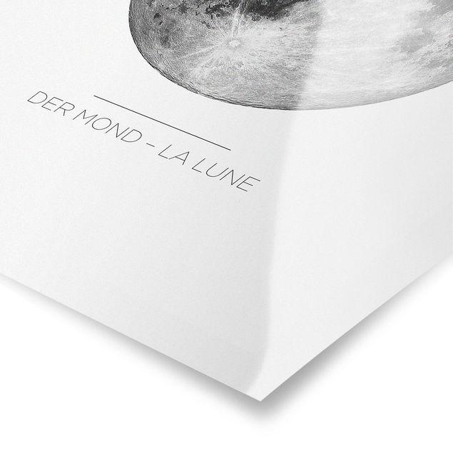 Poster - La Luna - Der Mond - Hochformat 3:4