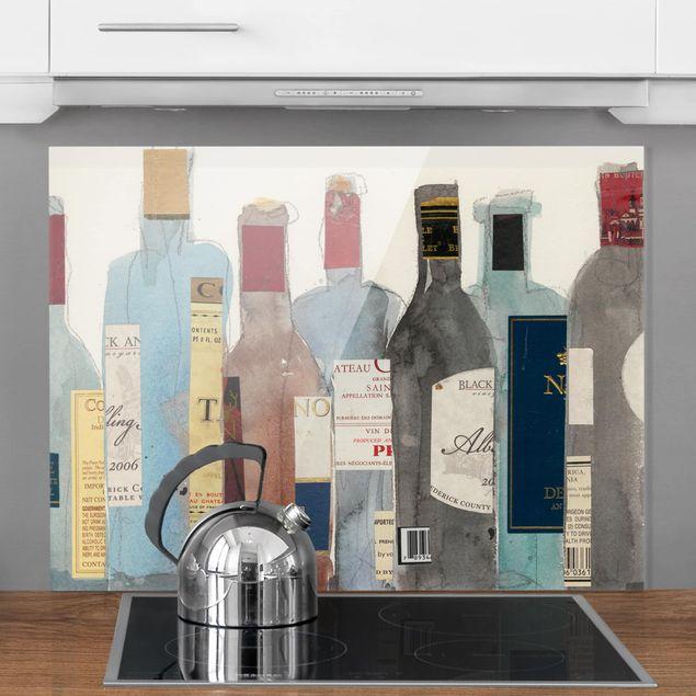 Glas Spritzschutz - Wein & Spirituosen II - Querformat - 4:3