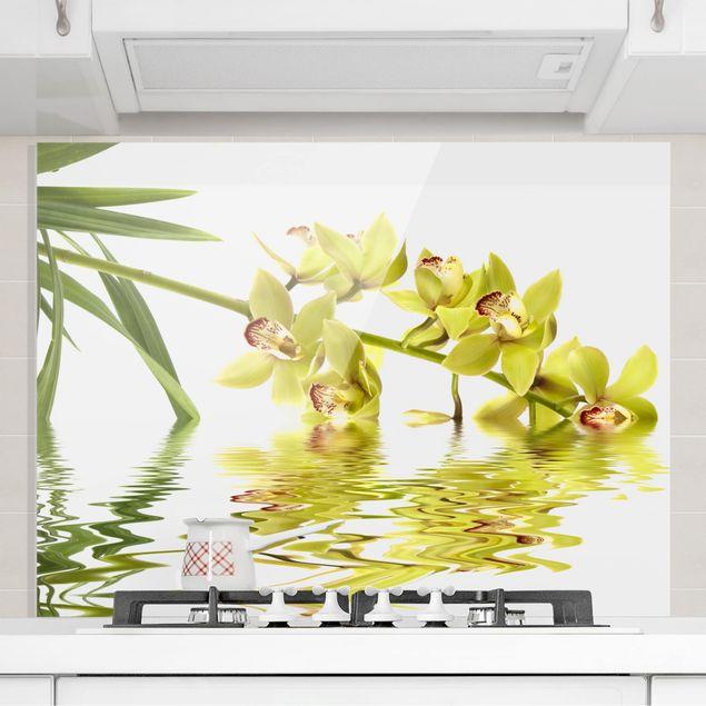 Glas Spritzschutz - Elegant Orchid Waters - Querformat - 4:3