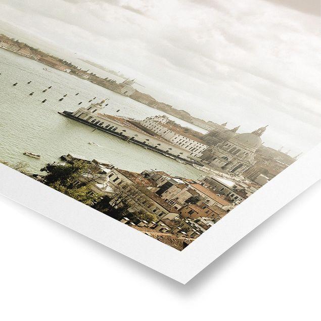 Poster - Lagune von Venedig - Quadrat 1:1