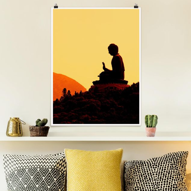Poster - Resting Buddha - Hochformat 3:4