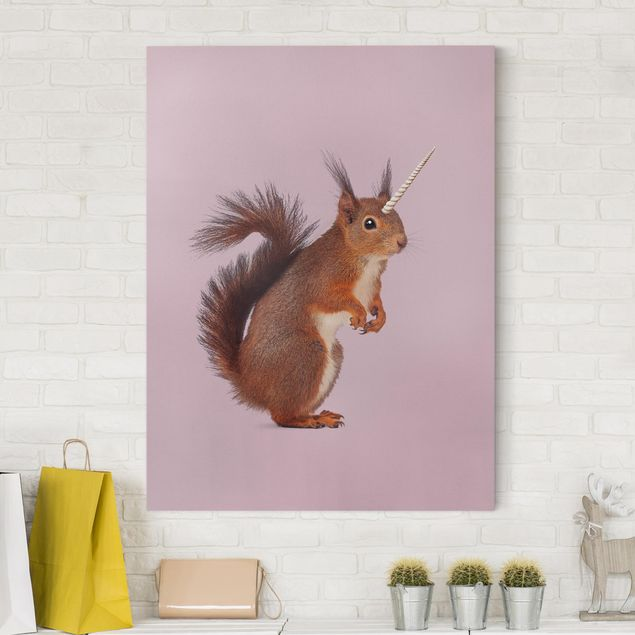 Leinwandbild - Jonas Loose - Einhörnchen - Hochformat 4:3