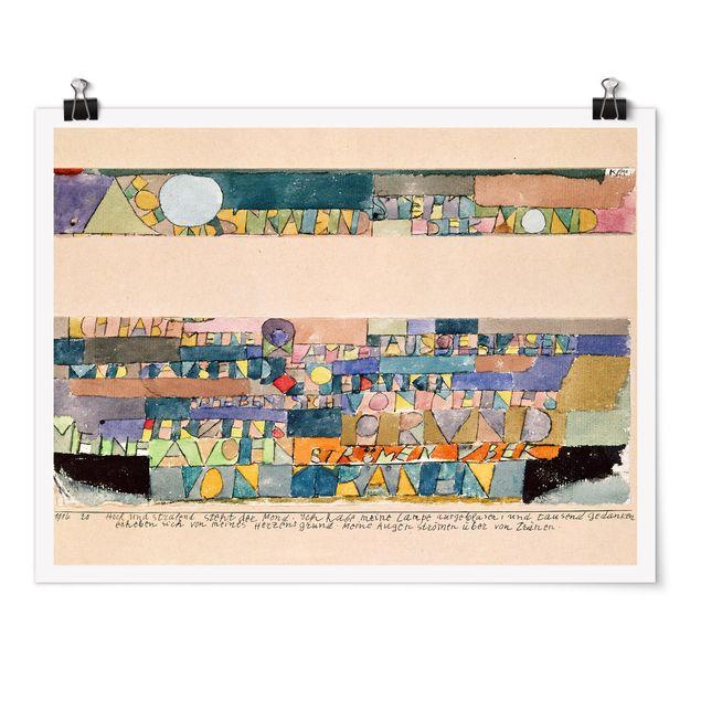 Poster - Paul Klee - Der Mond - Querformat 3:4