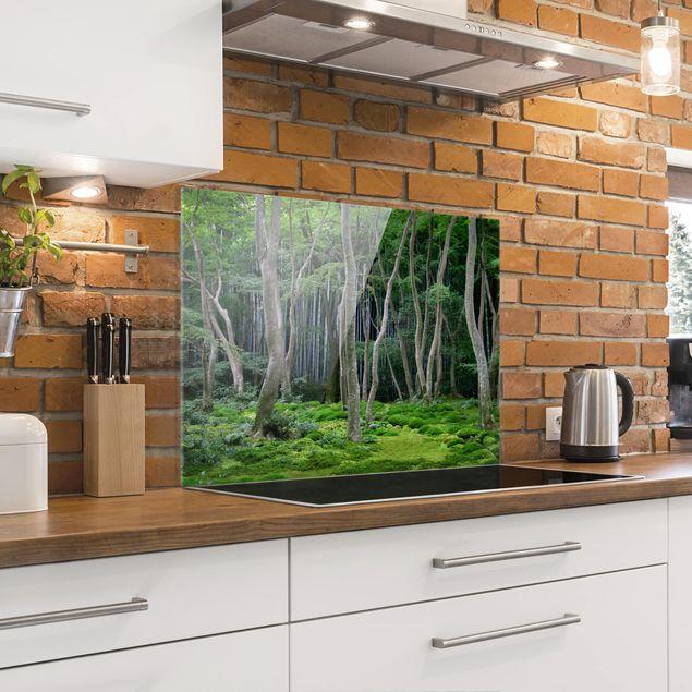 Glas Spritzschutz - Japanischer Wald - Querformat - 4:3
