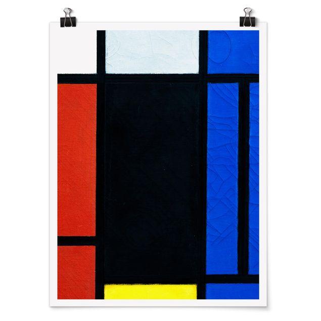 Poster - Piet Mondrian - Tableau No. 1 - Hochformat 3:4