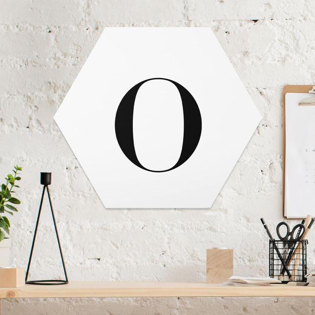 Hexagon Bild Forex - Buchstabe Serif Weiß O