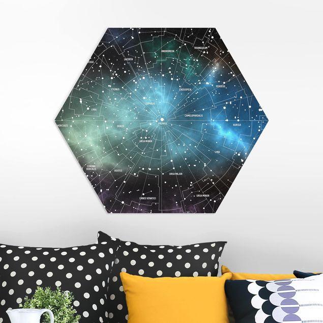 Hexagon Bild Forex - Sternbilder Karte Galaxienebel