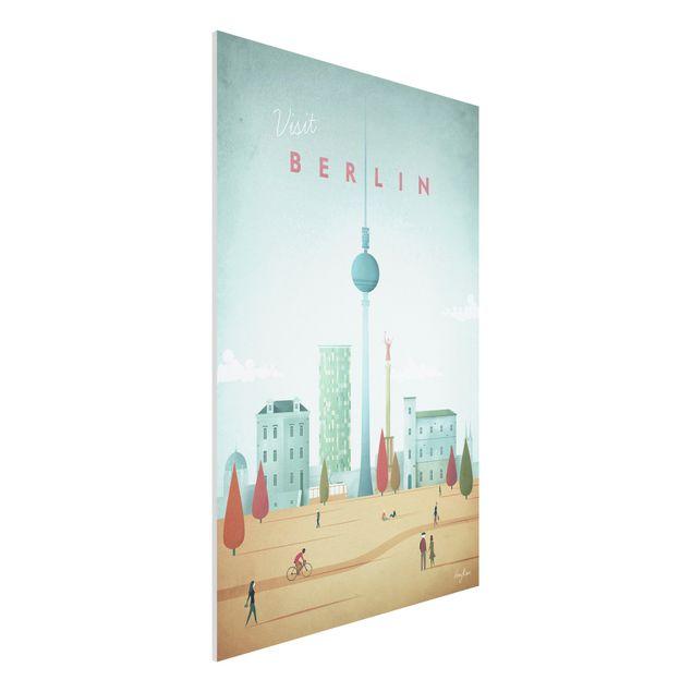Forex Fine Art Print - Reiseposter - Berlin - Hochformat 3:2
