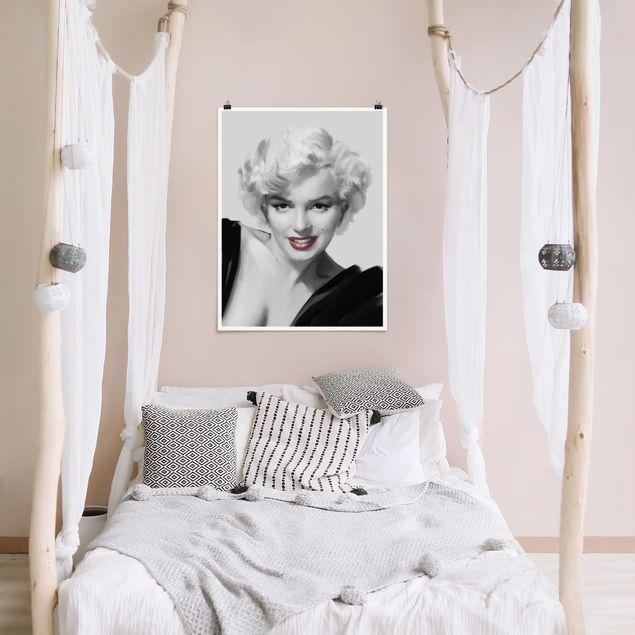 Poster - Marilyn auf Sofa - Hochformat 3:4