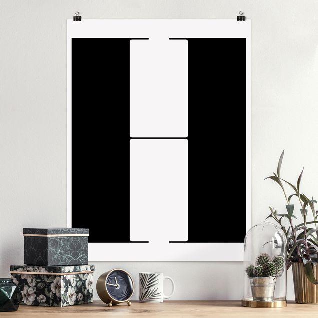 Poster - Antiqua Letter H - Hochformat 3:4