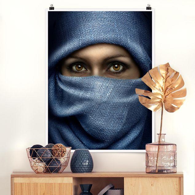 Poster - Oriental Beauty - Hochformat 3:4