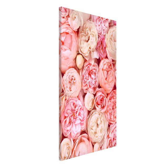 Magnettafel - Rosen Rosé Koralle Shabby - Memoboard Hochformat 4:3