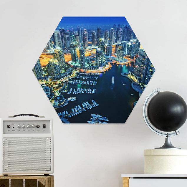 Hexagon Bild Forex - Nächtliche Dubai Marina