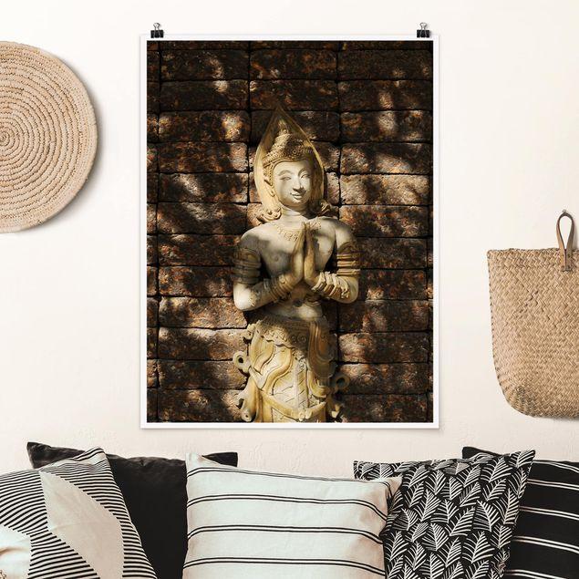 Poster - Calm Temple Dancer - Hochformat 3:4