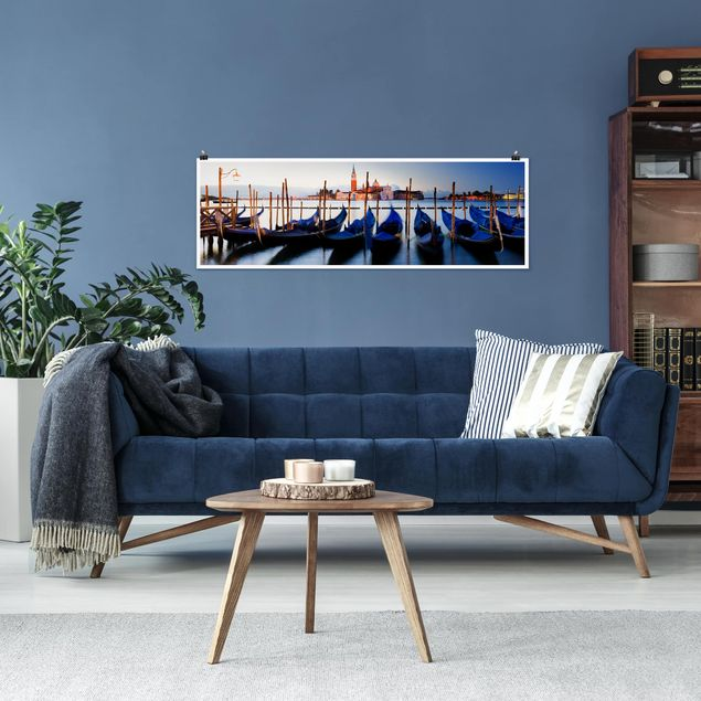 Poster - Venice Gondolas - Panorama Querformat