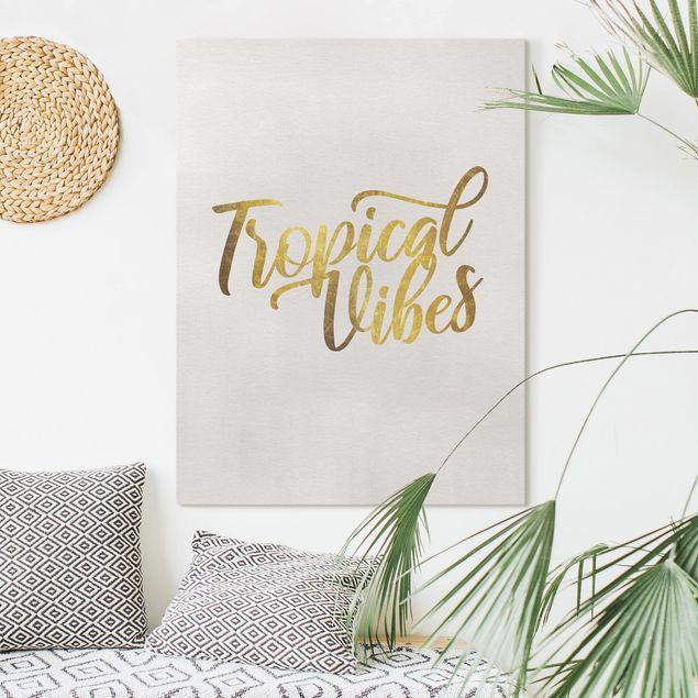 Leinwandbild - Gold - Tropical Vibes - Hochformat 4:3