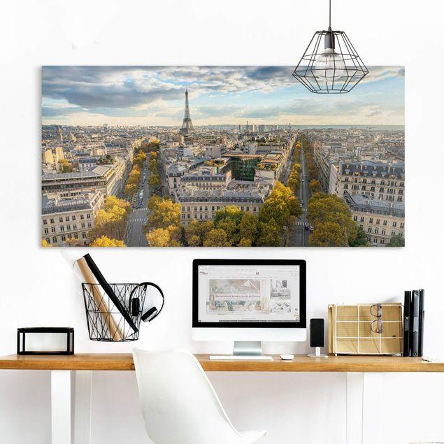 Leinwandbild - Nice day in Paris - Querformat 2:1