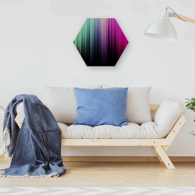 Hexagon Bild Holz - Rainbow Display