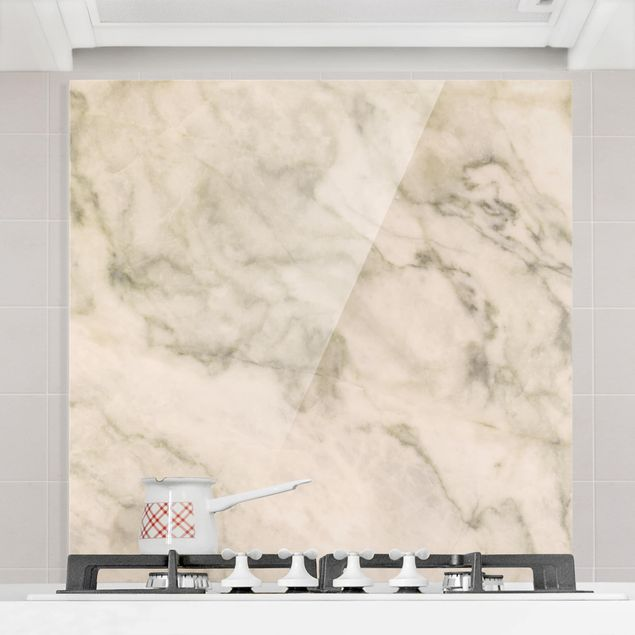 Glas Spritzschutz - Phoeni: Marmor - Quadrat - 1:1