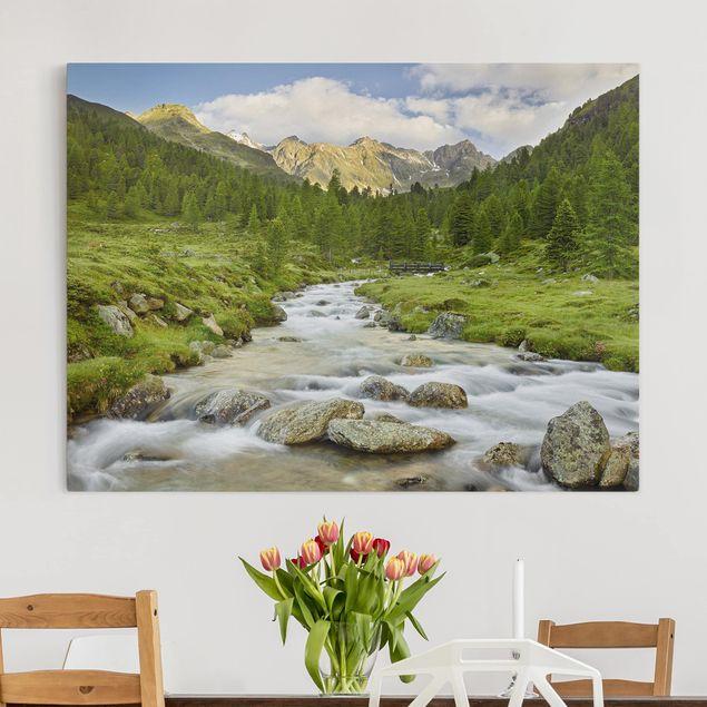 Leinwandbild - Debanttal Nationalpark Hohe Tauern - Querformat 3:4