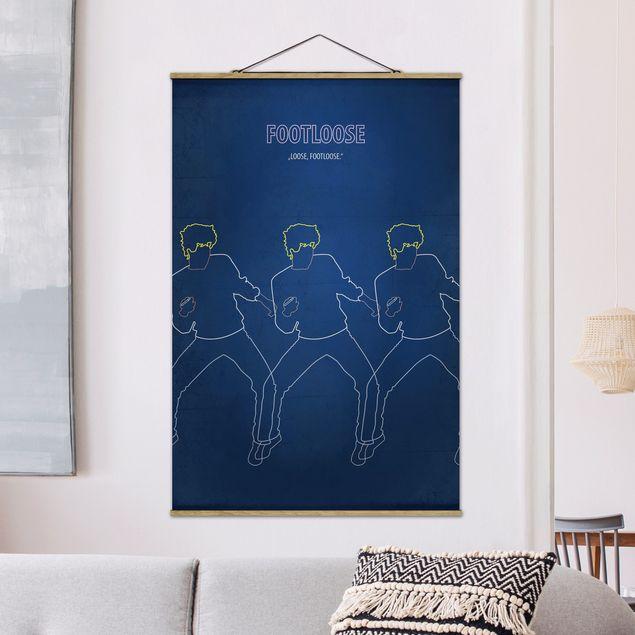 Stoffbild mit Posterleisten - Filmposter Footloose - Hochformat 3:2