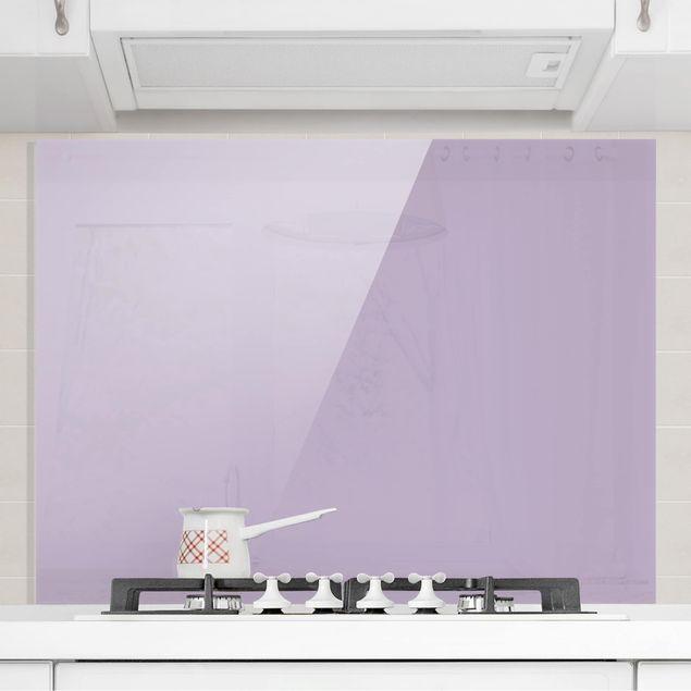 Glas Spritzschutz - Lavendel - Querformat - 4:3