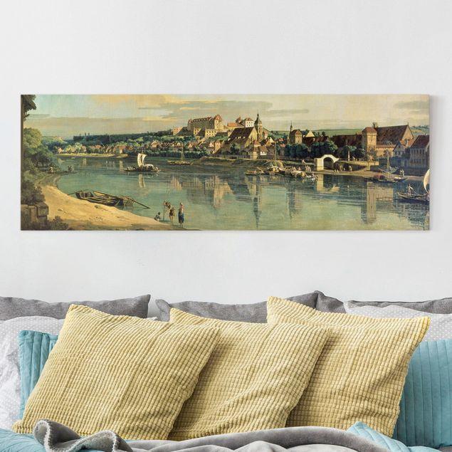 Leinwandbild - Bernardo Bellotto - Blick auf Pirna - Panorama 1:3