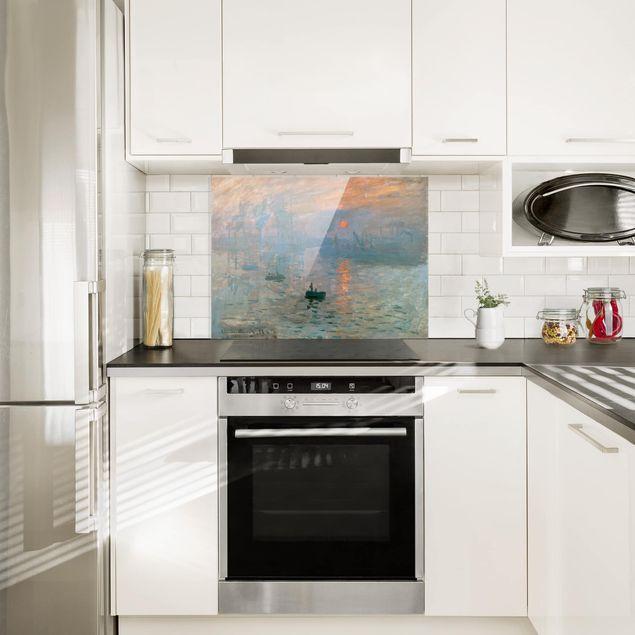 Glas Spritzschutz - Claude Monet - Impression - Querformat - 4:3