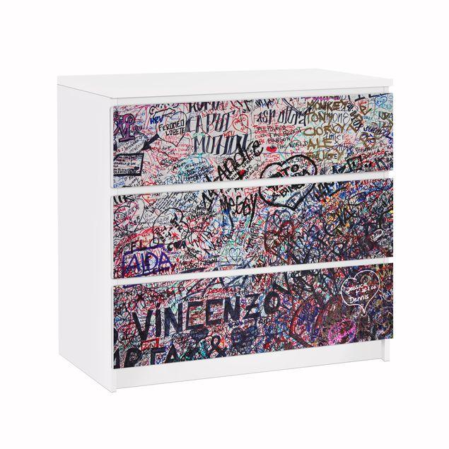 Möbelfolie für IKEA Malm Kommode - Klebefolie Verona - Romeo & Julia