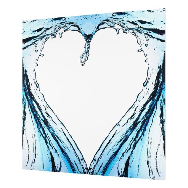 Glas Spritzschutz - Fluid Heart - Quadrat - 1:1