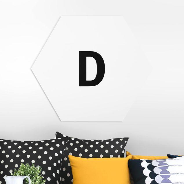 Hexagon Bild Forex - Buchstabe Weiß D