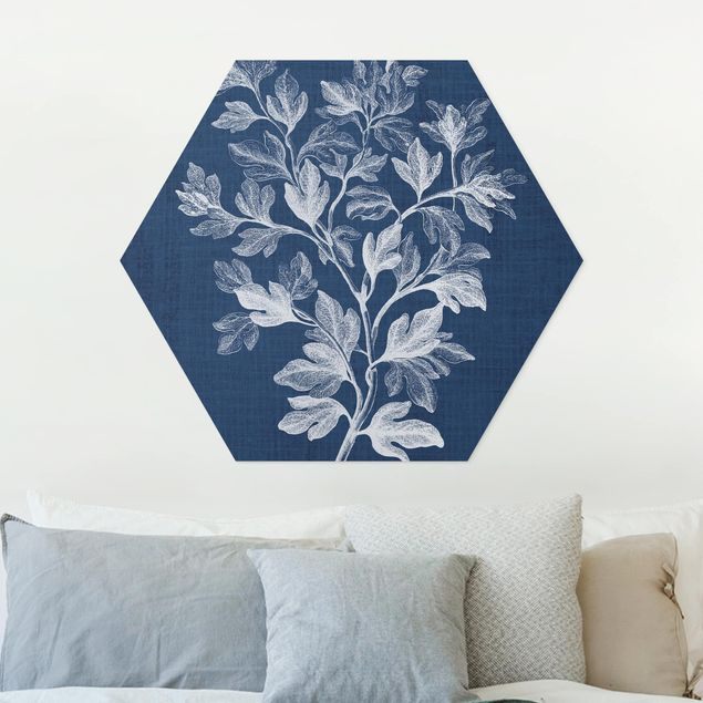 Hexagon Bild Forex - Denim Pflanzenstudie I